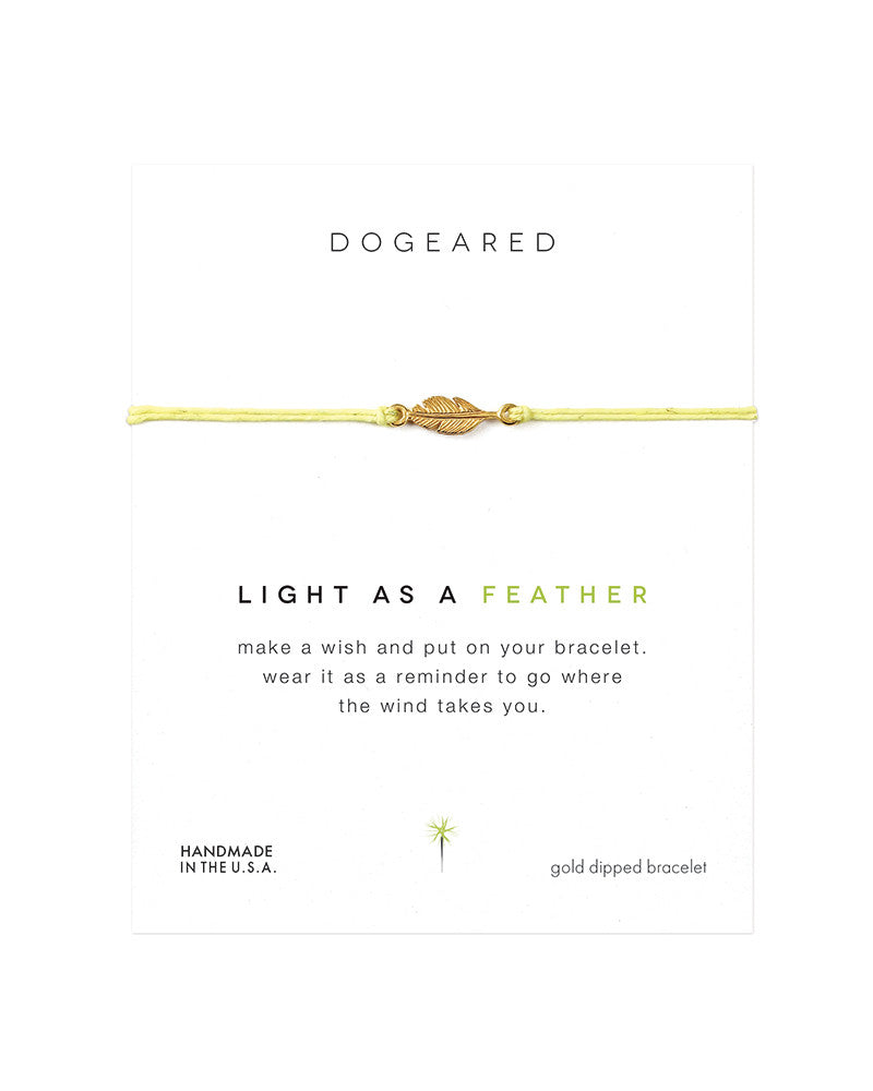 gold light as a feather bracelet dogeared