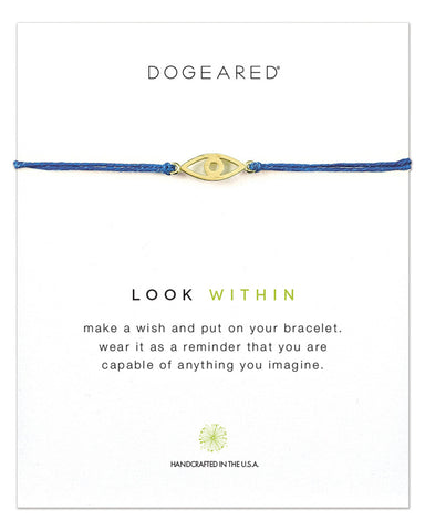 look within dogeared blue bracelet