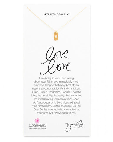 Dogeared Love to Love Gold Necklace