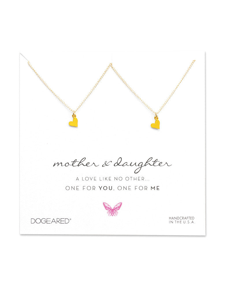 dogeared mother and daughter necklaces