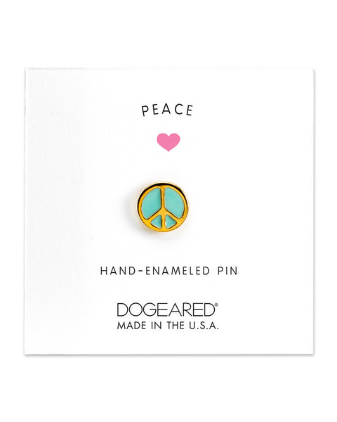 gold peace sign enamel pin dogeared