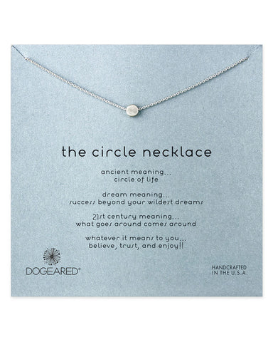 dogeared silver the circle necklace