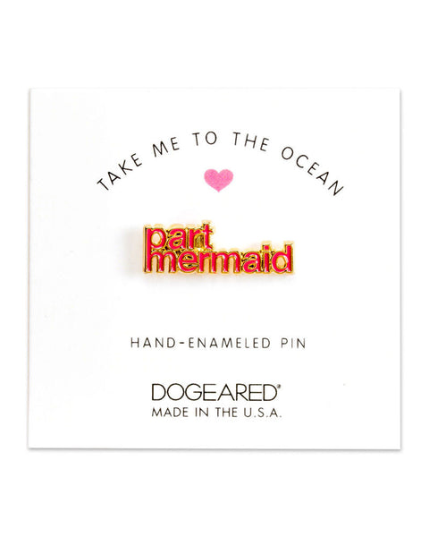 dogeared part mermaid enamel pin