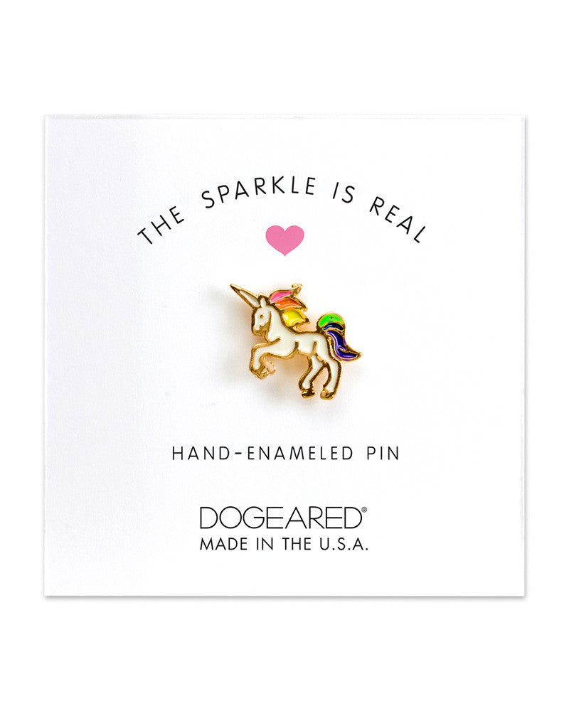 unicorn enamel pin dogeared
