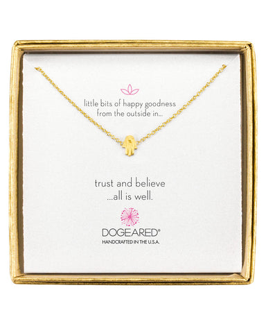 dogeared charm necklace trust and believe