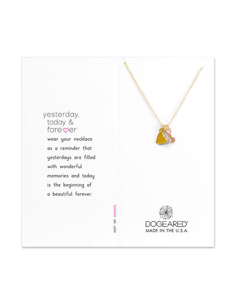 tiny hearts dogeared necklace