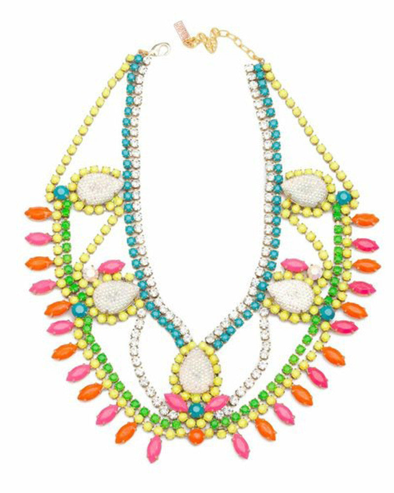 Doloris Petunia Santa Monica Swarovski Necklace