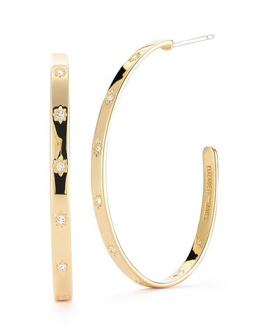 elizabeth and james bassa hoop earrings
