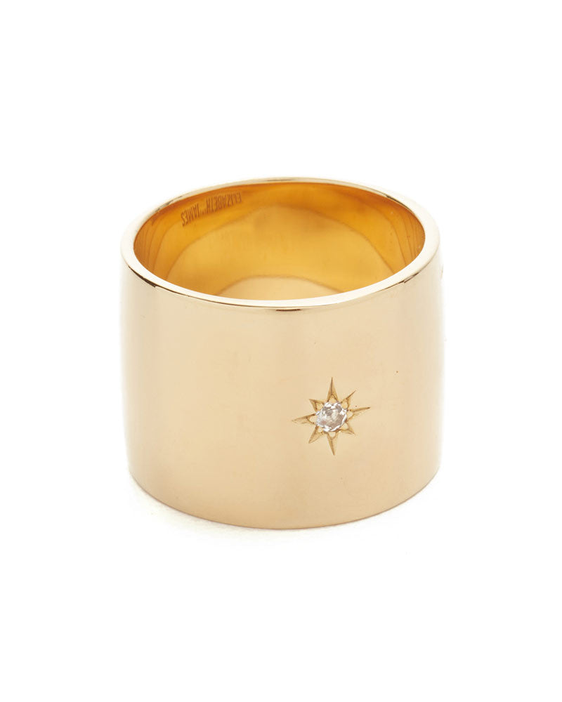 thick gold bassa ring elizabeth and james