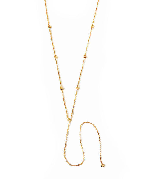 thin skinny necklace gold designer womens jewelry elizabeth stone
