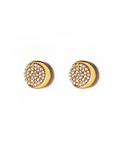 gold stud earrings for women small fashion stylish trendy designer jewelry elizabeth stone