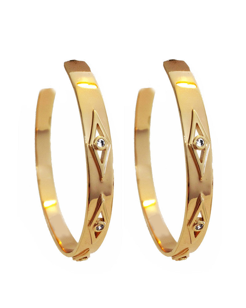 gold earrings hoops big large stylish chic cute pretty fashion elizabeth stone designer