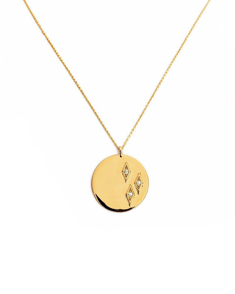Elizabeth stone geo diamond coin pendant necklace online jewelry elizabeth stone gold pendant necklace womens jewelry round skinny thin aloadofball Images