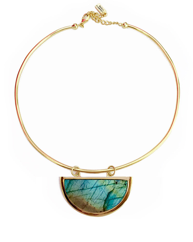 elizabeth stone moon gazer gold collar