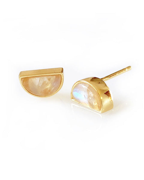 gold designer earrings by elizabeth stone studs womens summer collection jewelry