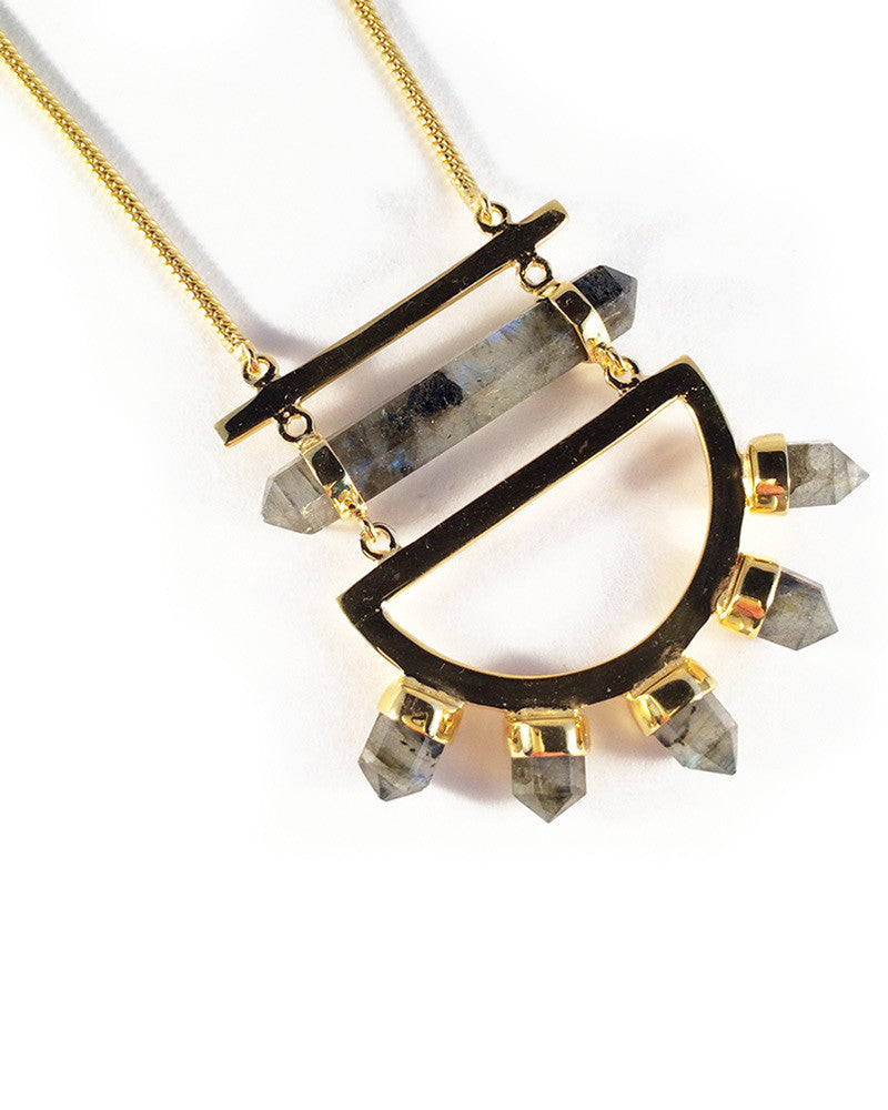 elizabeth stone moon gazer statement necklace