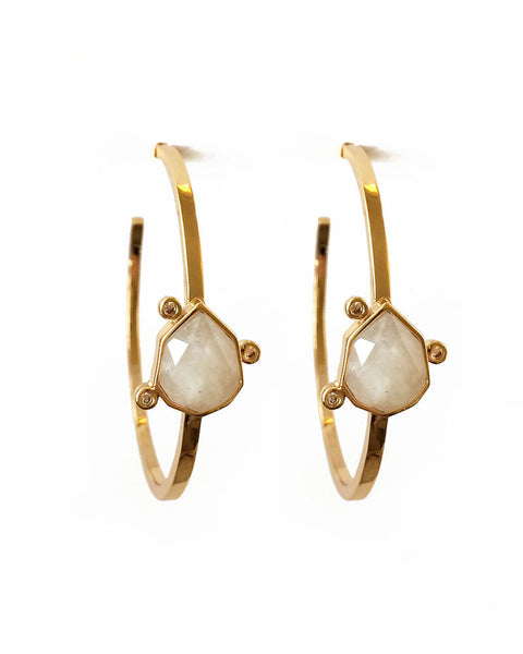 designer earrings by elizabeth stone gold womens jewelry gemstone moonstone