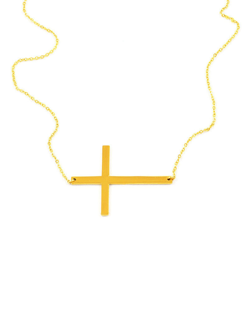 Ellie Vail Sideways Cross Necklace