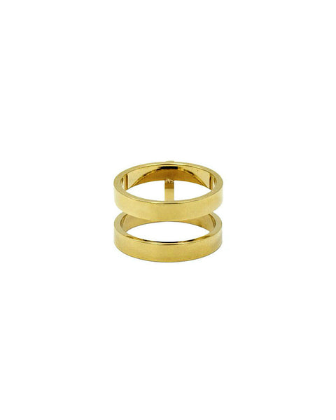gold designer womens jewelry ring stack