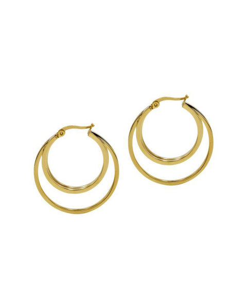 round hoop gold earrings designer womens jewelry