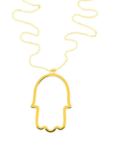 Ellie Vail Gold Big Hamsa Necklace