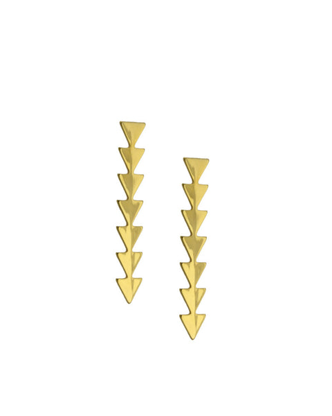 ellie vail gold simone earrings