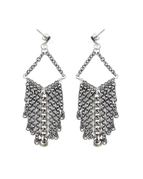 Ettika Silver Chain Earrings