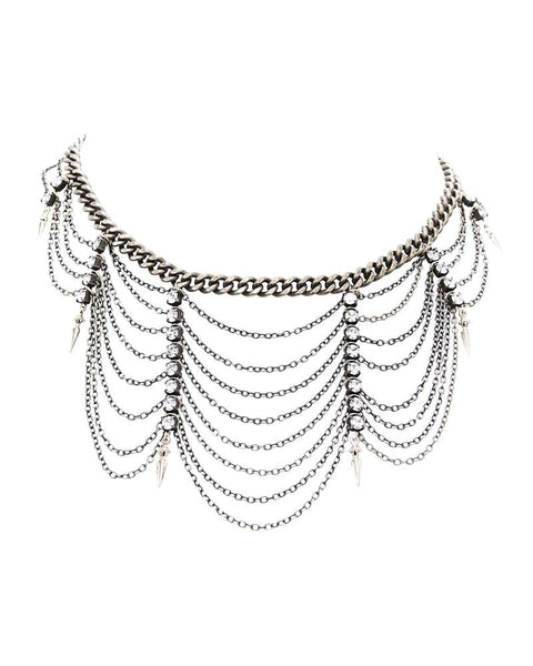 Ettika Silver Choker Necklace