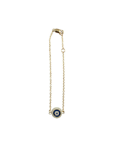 Tiny Blue Evil Eye Gold Bracelet Fashion Jewelry