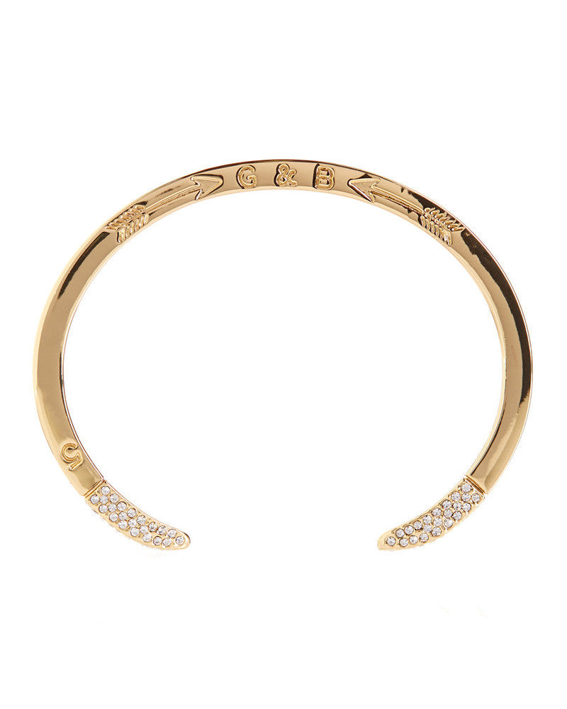 Giles and Brother Gold Double Spike Pave Cuff