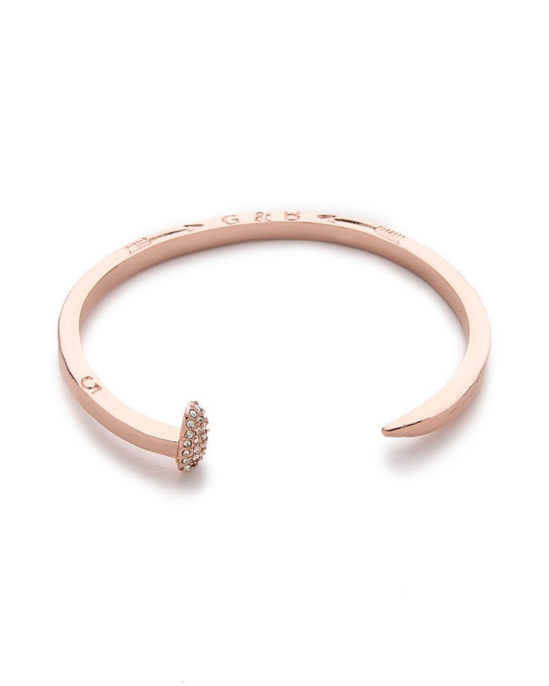Giles and Brother Railroad Spike Rose Gold Pave Bracelet