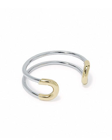 giles and brother two tone skinny cortina cuff
