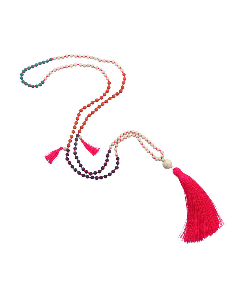 Gina Cueto Beaded Tassel Necklace