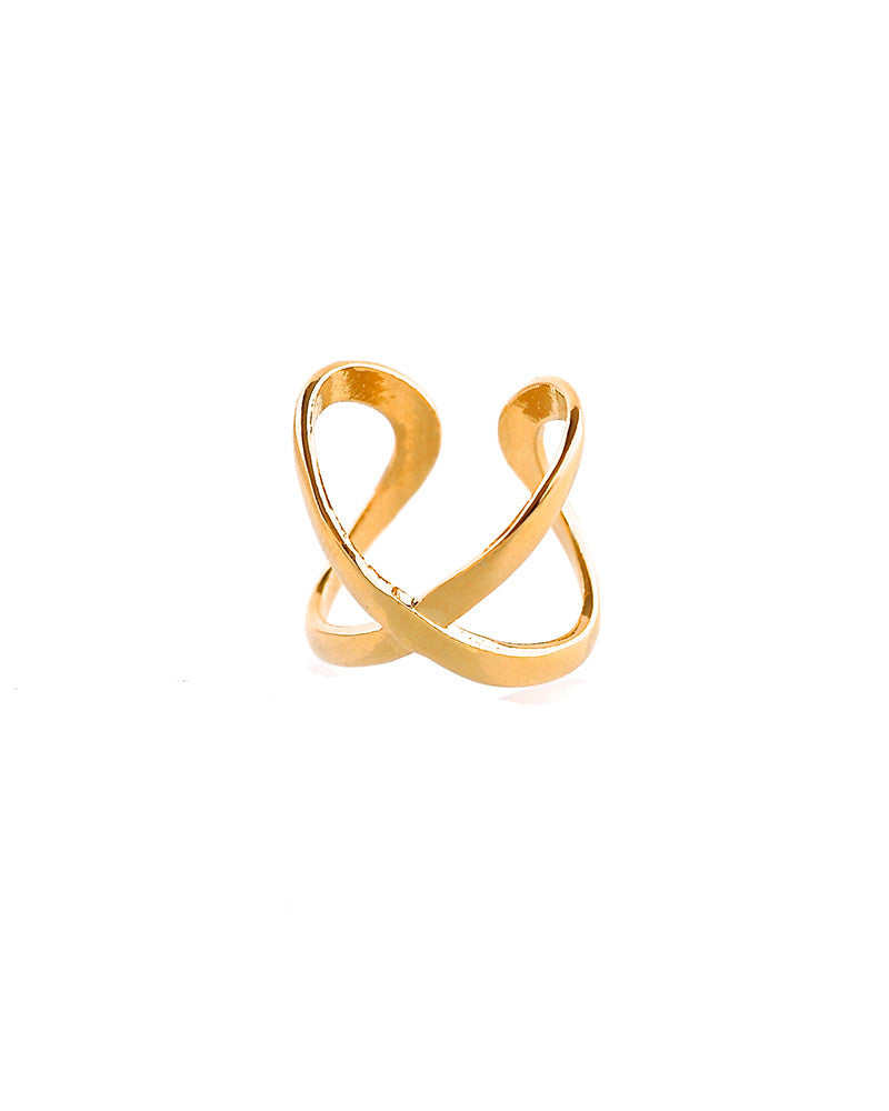 Gina Cueto Criss Cross Midi Ring