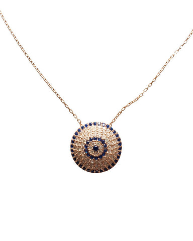 Pave Evil Eye Charm Necklace Gina Cueto