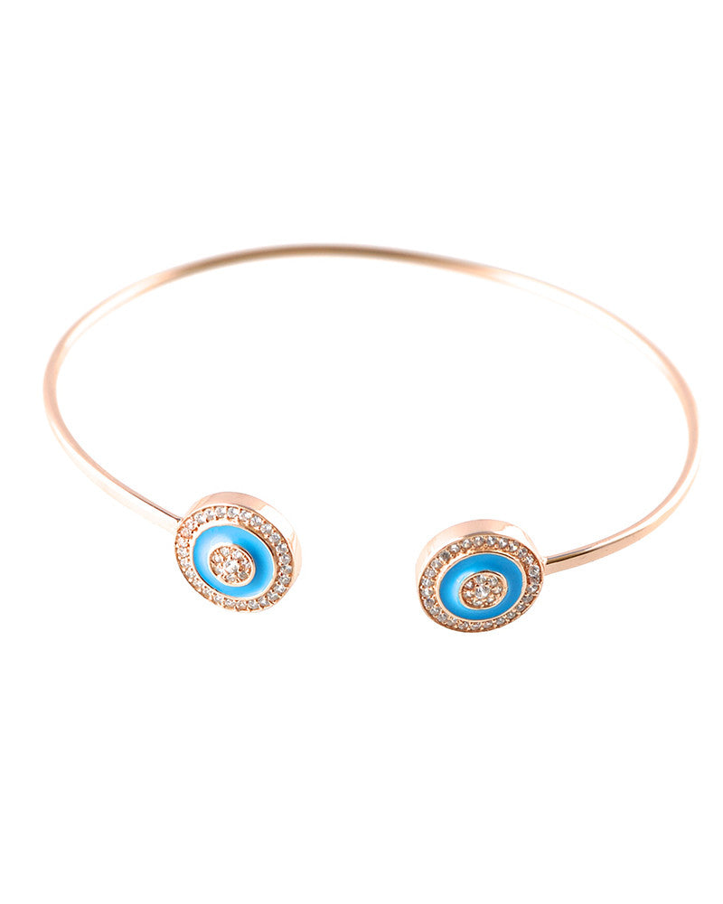 Gina Cueto Rose Gold Double Evil Eye Bracelet