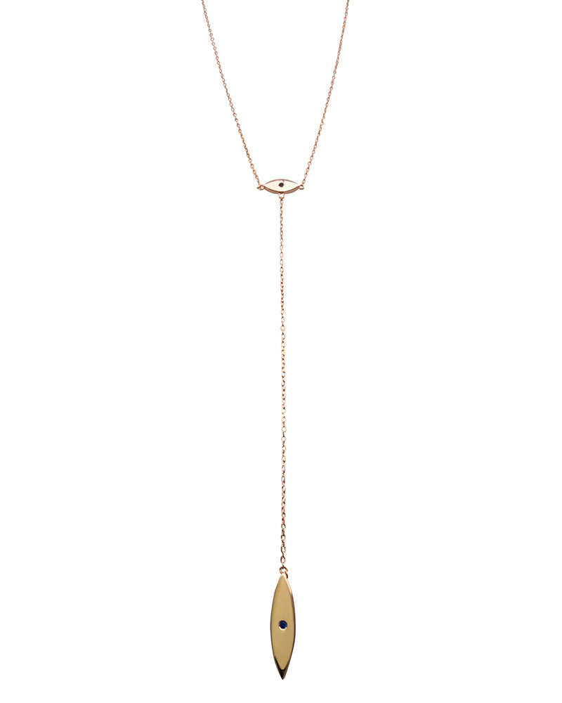 Evil Eye Lariat Necklace Gina Cueto
