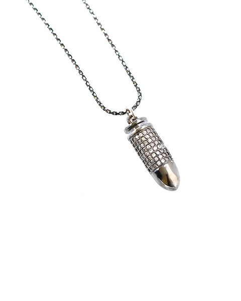 Gina Cueto Gunmetal Bullet of Love Necklace