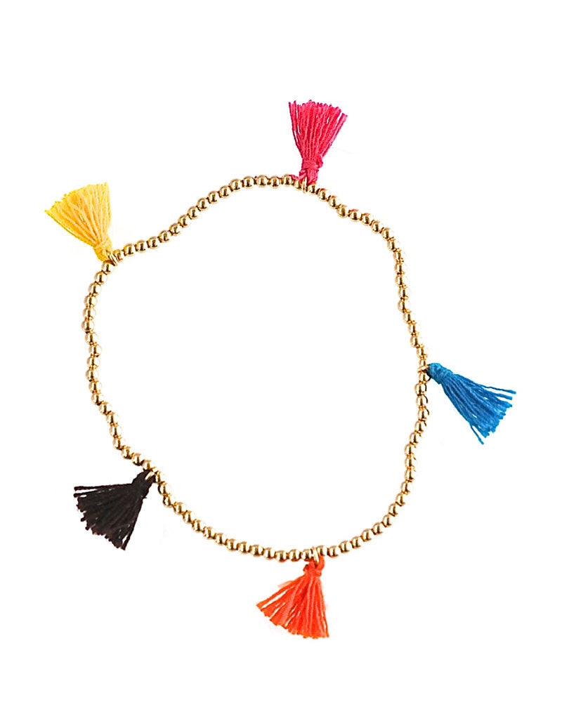 Mini Multi Colored Tassel Bracelet