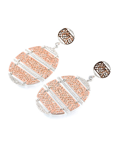 Mixed metal lace earrings gina cueto
