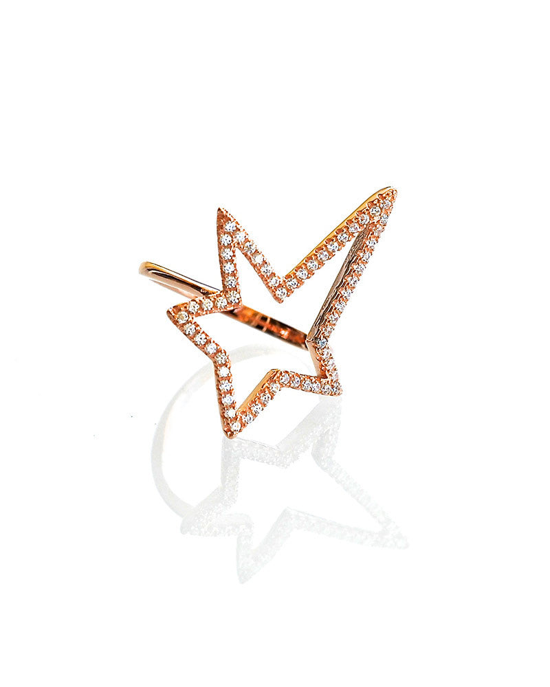 Rose Gold Gina Cueto Rock Star Ring