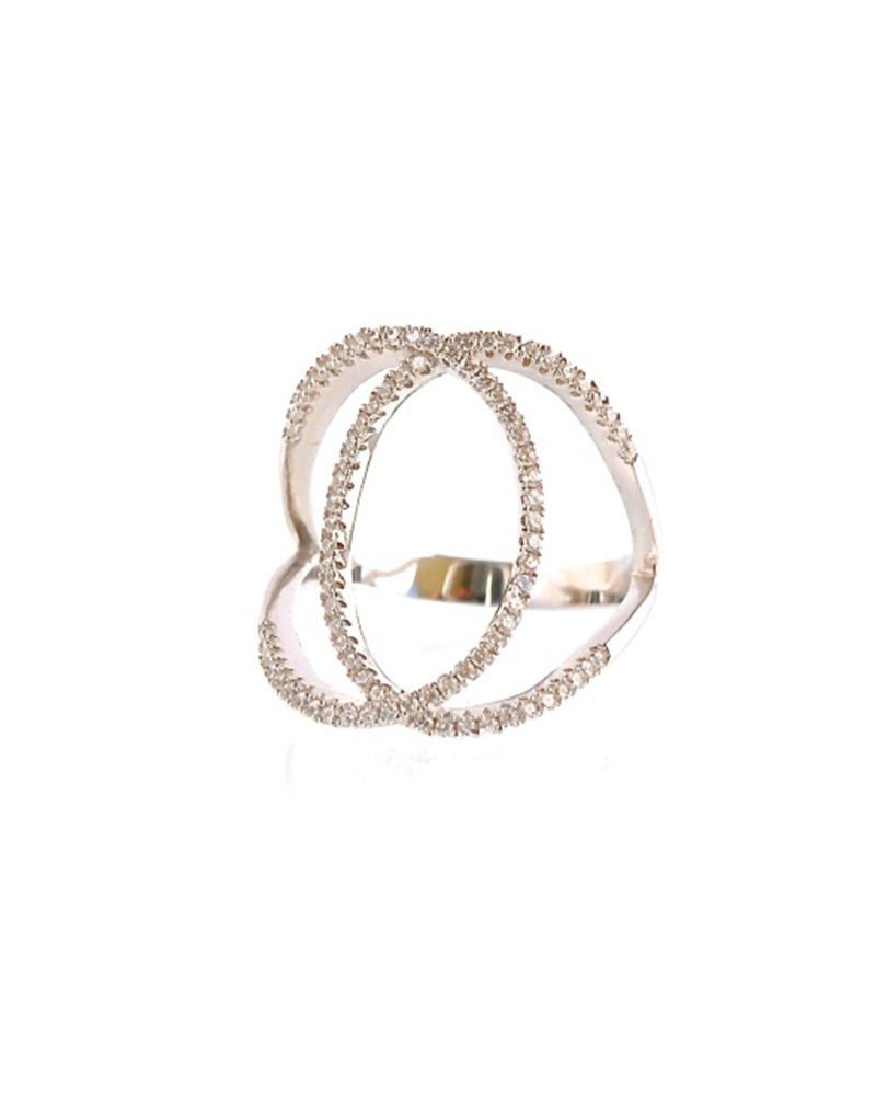 double circle cz ring sunset gina cueto