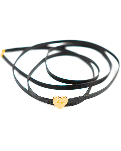 Black choker with love charm