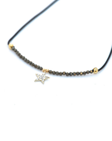 star beaded choker gina cueto