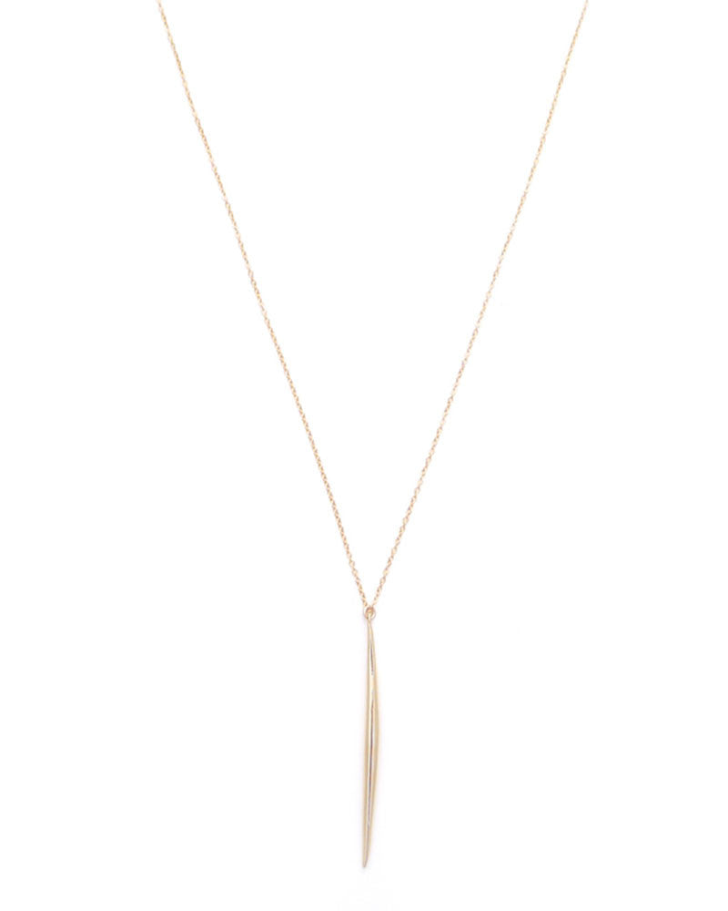 Gold and Gray Small Gold Spike Necklace