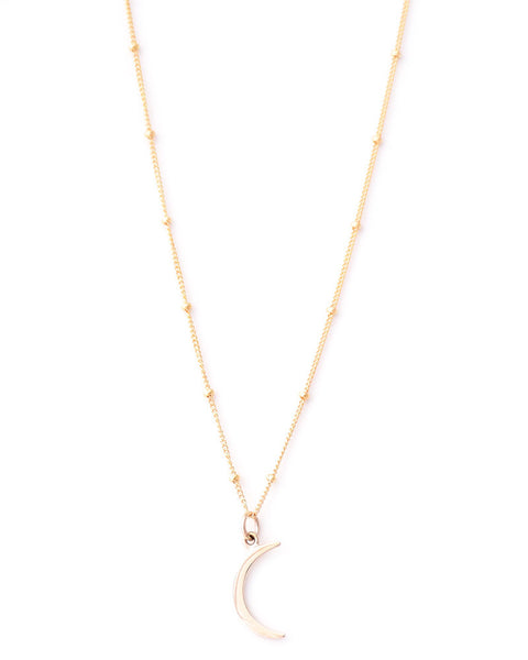 Gold & Gray | Mini Gold Crescent Necklace