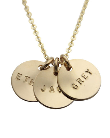 jenny presents circles with names personalized necklace