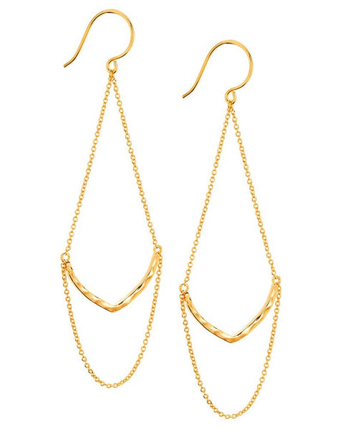 Gorjana drop chain earrings
