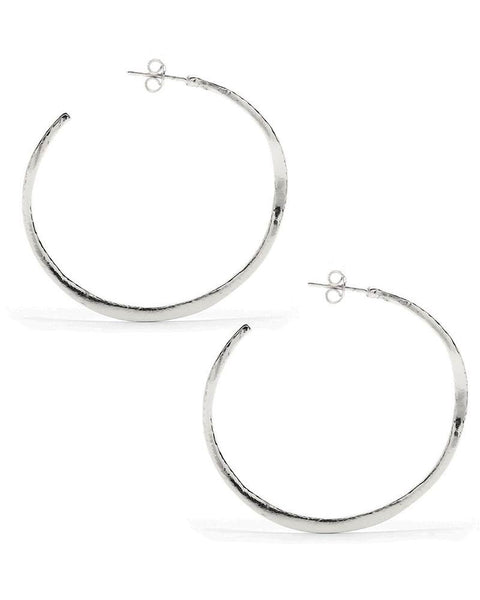 Gorjana Arc Large Silver Hoops