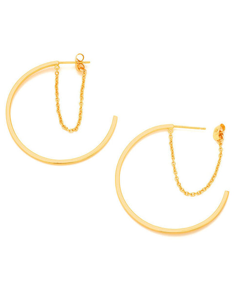 Gorjana Cameron Layered Hoop Earrings Side